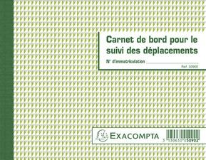 EXACOMPTA Carnet de bord pour le suivi des déplacements