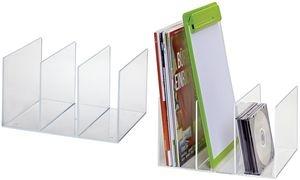 MAUL Acryl Katalog-Stehsammler , glasklar, 3-Fächer
