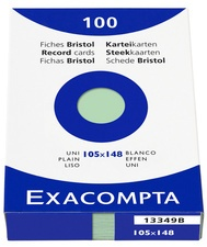 EXACOMPTA Karteikarten, DIN A6, blanko, orange