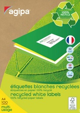 agipa Recycling Vielzweck-Etiketten, 105 x 148,5 mm, weiß