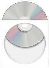 HERMA CD-/DVD-Papiertaschen, mit Fenster, weiß
