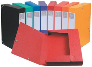 EXACOMPTA Sammelbox Cartobox, DIN A4, 50 mm, farbig sortiert