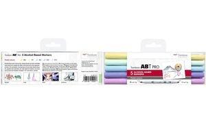 Tombow Marker ABT PRO, alkoholbasiert, 5er Set Pastel Colors