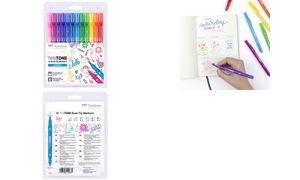 "Tombow Doppelfasermaler ""TwinTone"" Rainbow Colours, 12er Set"