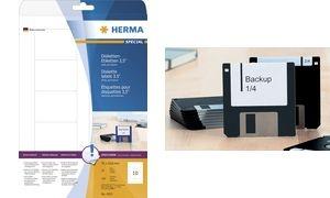 """HERMA Disketten-Etiketten 3,5"""" SPECIAL, 70 x 50,8 mm, weiß"""