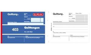 "herlitz Formularbuch ""Quittung 402"", DIN A6, 2 x 40 Blatt"