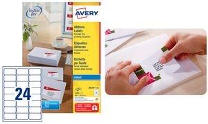 AVERY Étiquettes Adresse Jet d'encre, 63,5 x 33,9 mm, blanc