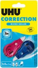 UHU Einweg-Mini-Korrekturroller Micro, 2er Blister