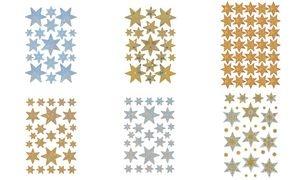 """HERMA Weihnachts-Sticker DECOR """"Sterne"""", gold, Reliefprägung"""