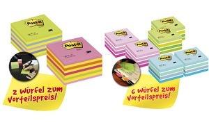 Post-it Haftnotiz-Würfel, 76 x 76 mm, Vorteilspack, sortiert