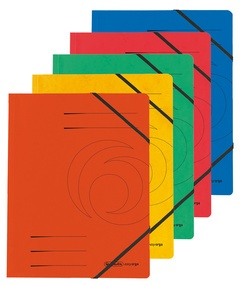 herlitz Eckspanner easyorga, A4, Karton, blau