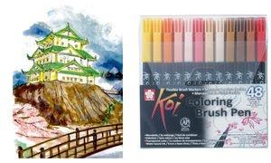 SAKURA Pinselstift Koi Coloring Brush, 48er Etui