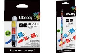 Wonday Gouachefarbe 12 ml, farbig sortiert, 12er Etui