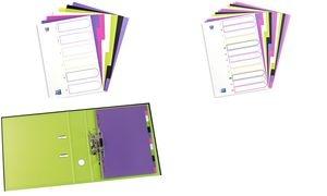 ELBA Kunststoff-Register myColour, DIN A4, 12-teilig, blanko