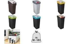 """keeeper Abfallbehälter """"magne"""", 45 Liter, graphite / grün"""