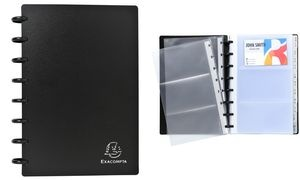 EXACOMPTA Visitenkarten-Ringbuch, DIN A5, schwarz