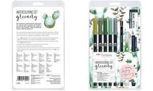 """Tombow Watercoloring-Set """"Greenery"""", 11-teilig"""
